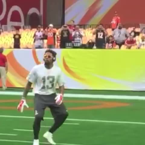 Just a compilation of Odell Beckham Jr. making one-handed catches. BEAST! - Vine by NFL on ESPN - Just a compilation of Odell Beckham Jr. making one-handed catches. BEAST!