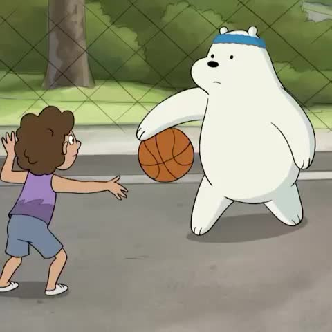 Watch cartoon network s vine quot ice bear has mad basketball skills