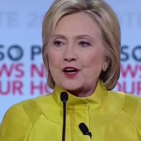 Vine by POLITICO - Bernie disagreed with Hillary. So he did the Mutombo wag