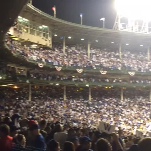 That atmosphere last night. #Electric #FlyTheW - Vine by Chicago Cubs - That atmosphere last night. #Electric #FlyTheW