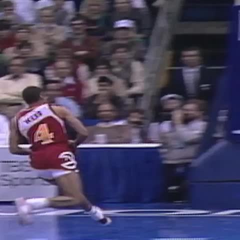 Vine by NBA - #TBT A legend is born in 86...Spud Webb with the HOPS! #NBAVine