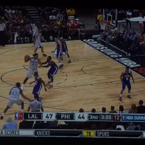 c603bd7d9 Lakers Highlights  Larry Nance blocks Jahlil Okafor - Silver Screen ...
