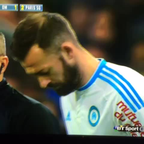 Vine by Blackouts - Steven Fletcher makes debut for #Marseille Cavani cant quite believe it! 😂 #Sunderland