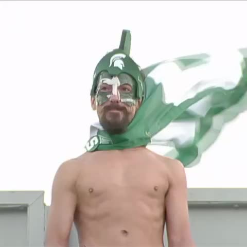 Sparty on! Michigan State beats Air Force, 35-21. This guy approves. - Vine by SportsCenter - Sparty on! Michigan State beats Air Force, 35-21. This guy approves.