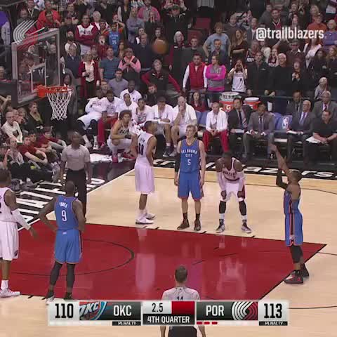 Vine by Trail Blazers - Moda Center went 🎉 after Thunder #0 missed his first free throw