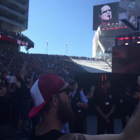 Vine by WWE - The WWE Universe reacts to @TripleHs #WrestleMania entrance #KingofKings