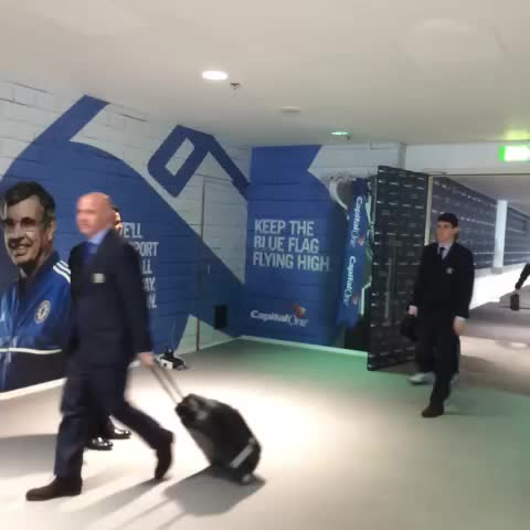 Vine by Chelsea FC - Arriving at Wembley... #CFC
