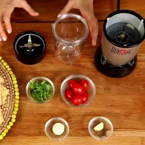 Prepared ingredients to make salsa