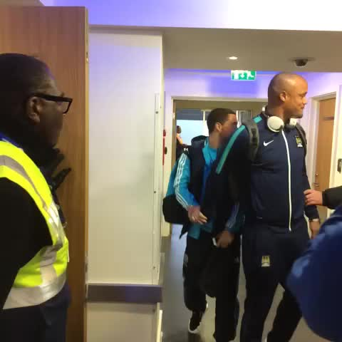 Vine by Chelsea FC - Eden Hazard with a quick hello for international teammate Vincent Kompany... #CFC