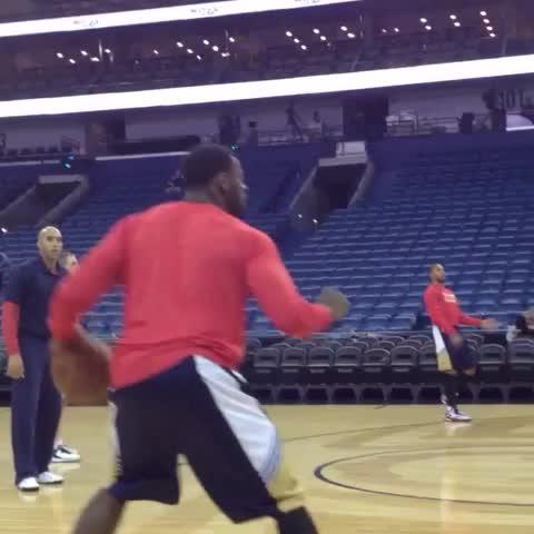 Vine by New Orleans Pelicans - .@TyrekeEvans working on that long range game