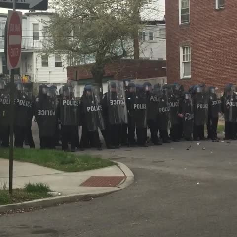 Vine by Netta - Baltimore police shooting more pepper balls #FreddieGray