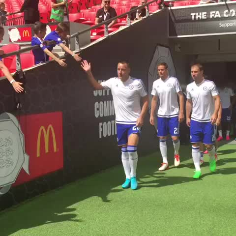 Vine by Chelsea FC - Out go the Chelsea team to warm up... #CommunityShield