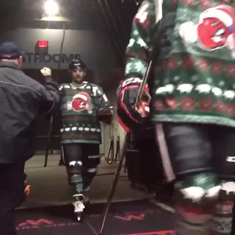 f25219ae1ff The Rockford IceHogs proudly continued the tradition with ugly Christmas  sweater-themed gear. Warning