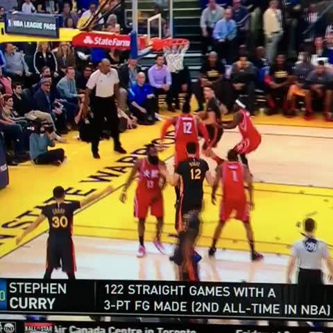 Vine by Warriors Nation - CURRY AGAIN FROM THE CORNER???????????? #CurryCounter #WarriorsNation #Warriors #Rockets #NBA
