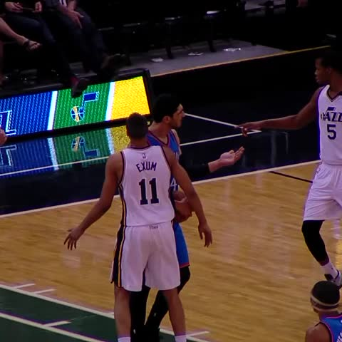 Vine by Tyler Gibbons - Enes isnt allowed to keep the ball #OKCatUTA