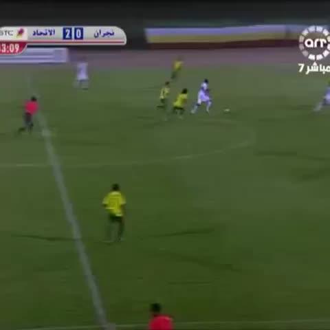 Vine by أبومنصور - ابو شروان..هدف جميل من تمريرات رائعة..في هذه المباراة حدث شيء غريب..اللي فاكر يقلي ???? #الاتحاد_نجران