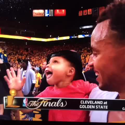Vine by Larry Brown - Adorable Riley Curry says Warriors are No. 1!