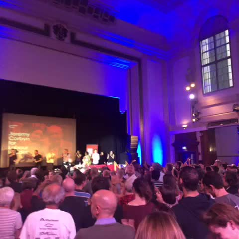 Vine by Ned Simons - Chants of #JezWeCan as Corbyn ends his speech