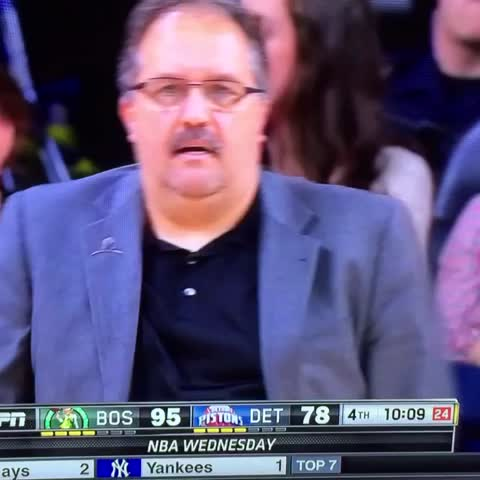 Vine by Roofoh - Another look at #StanVanGundy and his disbelief #celtics #Pistons #nba