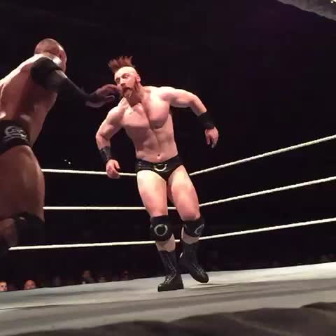 Vine by WWE - .@RandyOrton delivers an #RKOOuttaNoWhere to @WWESheamus in #WWEStockton!