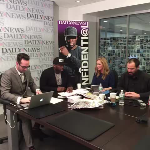 Vine by New York Daily News - .@50Cent is editing Confidenti@l for us today. http://nydn.us/50