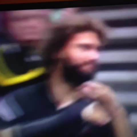Vine by Sean-Louis Philipsen - RoLo clapping with his cast! ???? #ripcity #PORvsMIL