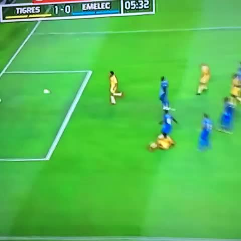 Vine by Enrique Cavazos - Error del arquero y @TigresOficial anota el 1-0 al 5 con gol de Sobis.