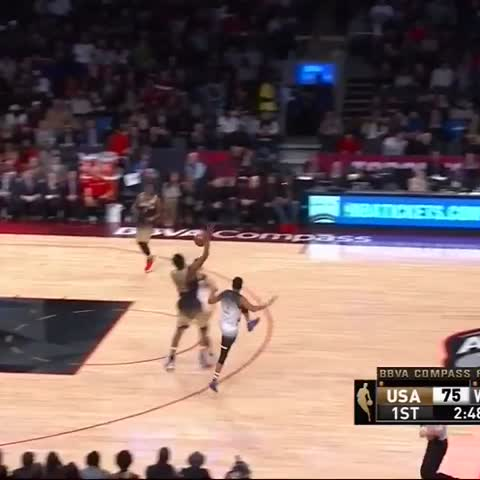 Vine by NBA on TNT - Porzingis strong dunk