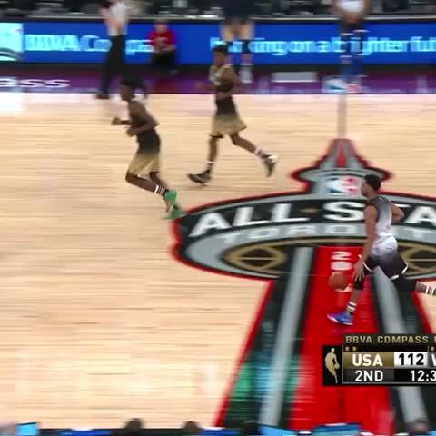Vine by Lakers - DAngelo Russell. Thats 22 points, in case you were wondering. #NBAAllStarTO #BBVARisingStars (NBA on TNT)
