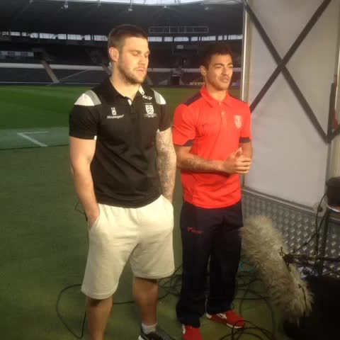 Vine by Hull FC Official - Kirk Yeaman and Kieron Dixon speaking on Boots N all earlier tonight, ahead of #DerbyDay