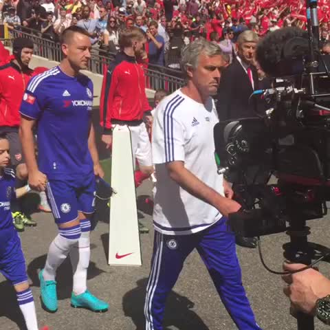 Vine by Chelsea FC - The players are out on the pitch and we are almost ready to go! #CommunityShield