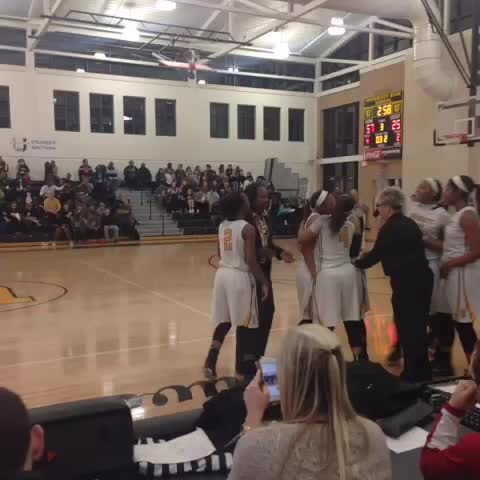 "Vine by Jerit Roser - UHigh senior Alanie Fisher hits free throw for her 1,200th career point, receives a commemorative ball & has teammates tell, ""take a selfie"""