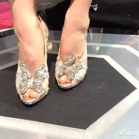 Vine by #Cinderella - @CinderellaMovie: A perfect fit... Lily James hits #CinderellaShoeCam on the magical #CinderellaPremiere red carpet!