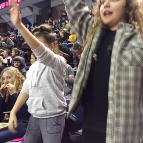Vine by Teri Pecoskie - So much noise, so early. The Hamilton Bulldogs annual school day game. #coffee #aspirin #earplugs