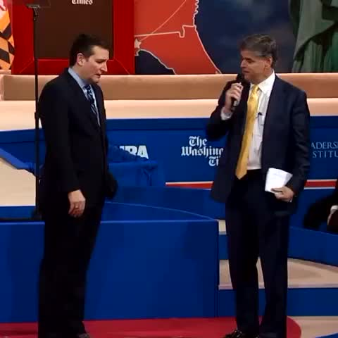 Vine by ABCPolitics - Sen. Ted Cruzs awkward joke at #CPAC2015