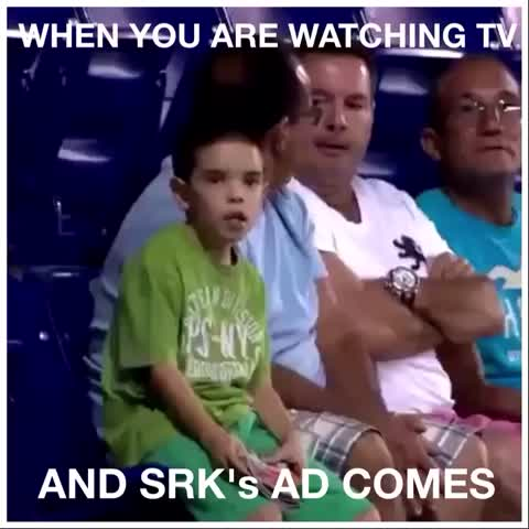 Vine by FARHAN - When SRKs advertisement is shown on TV #SRK #DieHardFan