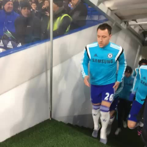 Vine by Chelsea FC - Out go the team to warm up. Come on #Chelsea! #CFC