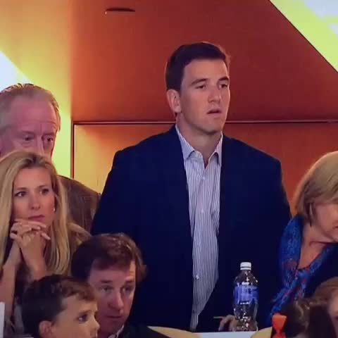 Vine by mfr24 - Elis thrilled that Peytons tied him in Super Bowls #ManningBros