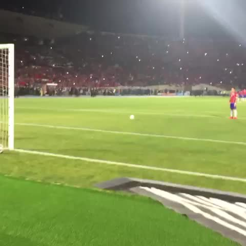 Vine by Arsenal First - Stunning angle of #Alexis #Sanchezs #CopaAmerica winning penalty for #Chile! #Arsenal #AFC