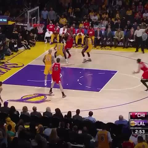 Vine by Chicago Bulls - Joakim Noah dishes behind the back for a Pau Gasol finish in OT on CSN and TNT