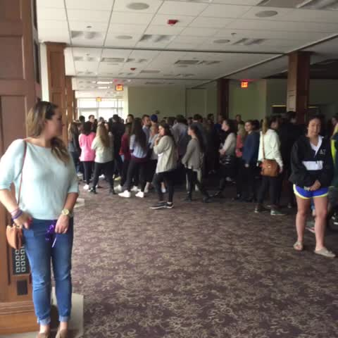 Vine by MichaelAnthonyAdams - Just a small portion of the crowd that has gathered in Alumni Hall for #HannahWilsons vigil