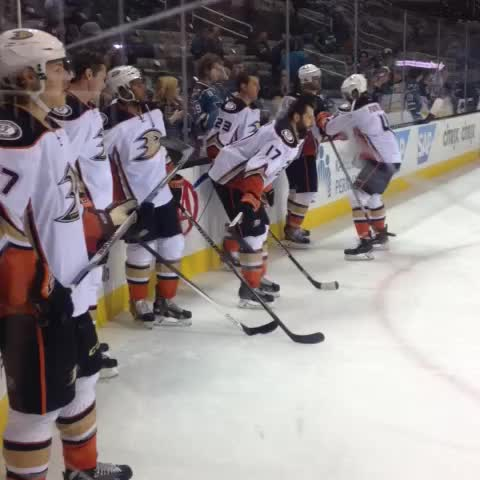 Vine by Anaheim Ducks - .@C_Fowler4 keeping the boys loose. #ANAvsSJS