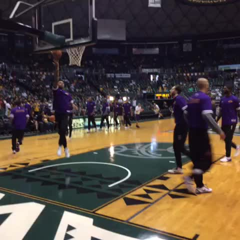 The Lakers take the court for the first time in 2015-16. - Vine by Mike Trudell - The Lakers take the court for the first time in 2015-16.