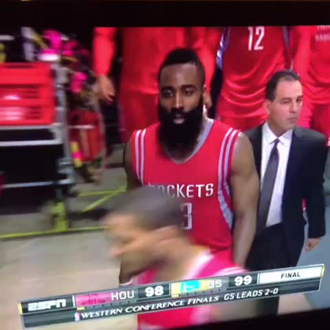 Vine by EliteLife_Jonathon - James Harden is mad af! You blowed the game bruh with that shit! 💀💀💀