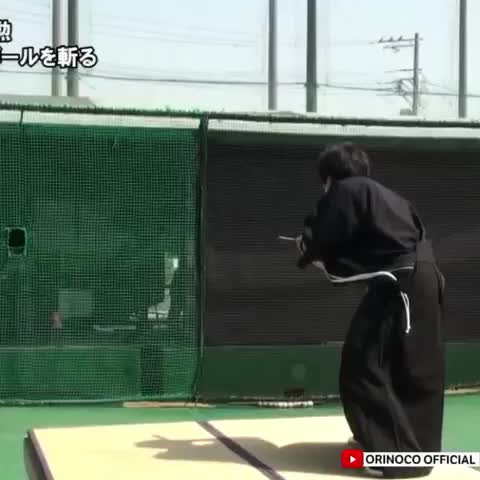 Vine by Digg - This is what it looks like when a samurai slices up a 100mph fastball. Someone get this man a job in the #MLB