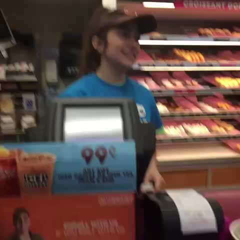 Vine by Dre | Koah :) - DA FUQ is this dunkin donuts girl doing?