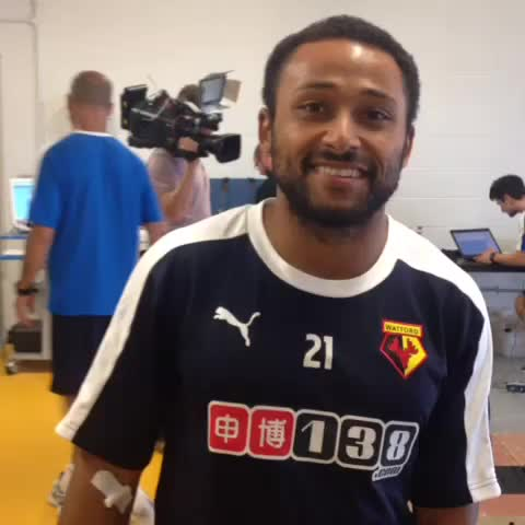Vine by Watford FC - First day of pre-season. Ikechi Anya welcomes you to the new #WatfordFC Vine account.