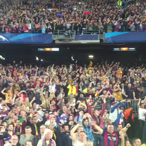 Vine by FC Barcelona - Camp Nou pays tribute to #Messi #fcblive #fcbfcb #ucl