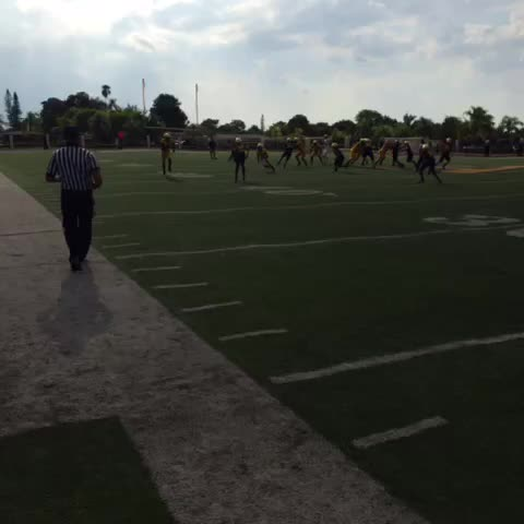 Vine by Rob Cassidy - my word, Sam Bruce. Miami commit looking awesome at at Thomas spring game.
