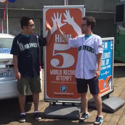 Vine by Copacino+Fujikado - Seattle Mariners win! Slap hands!
